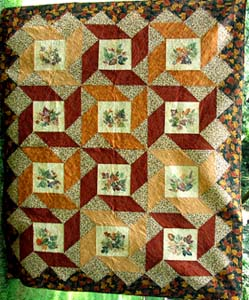 Painted Leaves-An Autumn Quilt