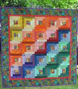 Easy Log Cabin Quilt Pattern: Paper Pieced to Perfection